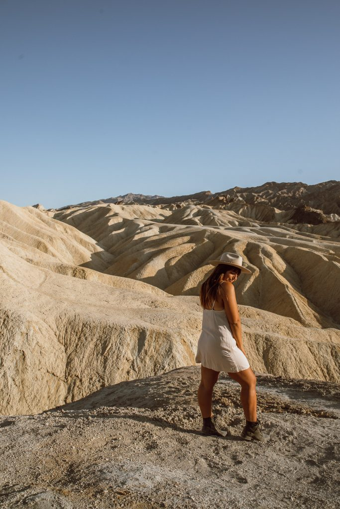 Golden hour at Zabriskie Point in Death Valley