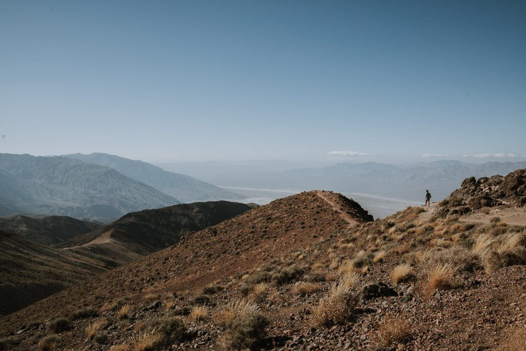 Hiking Dante's View in Death Valley National Park in California