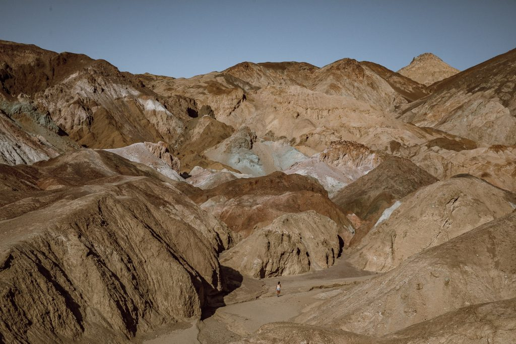Wide view of Artist's Palette in Death Valley