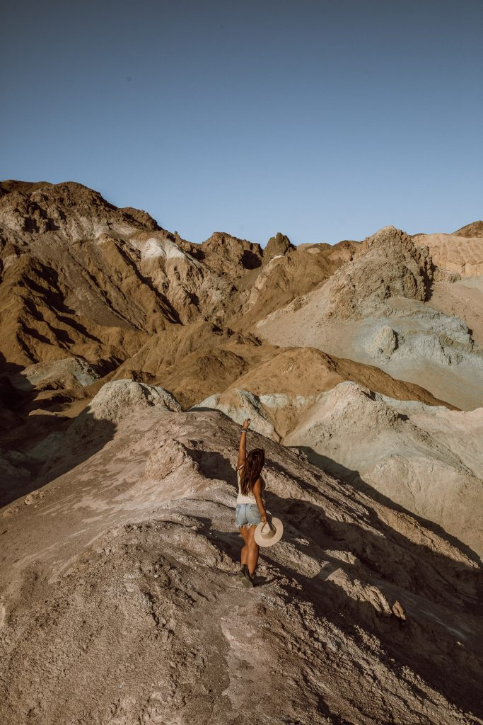 Artist's Palette in Death Valley National Park at Golden Hour
