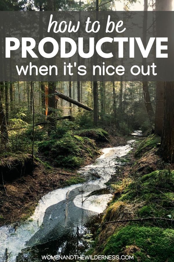 Tips for being productive when it's nice out